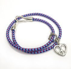 bungee cord bracelet, bungee cord crafts, doubl wrap, bracelets, bead land, craft idea, beads, bunge cord, cords