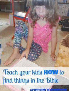 teach your kids how to find verses in the Bible