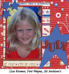 scrapbook layout...like the layout of this page