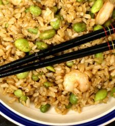 Shrimp (or chicken) fried rice with edamame. Plus other p90x recipes p90x3 recip, p90x food, p90x recipes, shrimp fri, fri rice, pork, healthi, edamam, fried rice