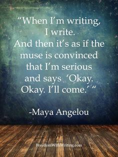 Maya Angelou on reading and writing.