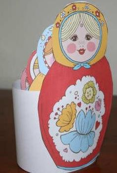 Five In A Row FIAR - Another Celebrated Dancing Bear - Free Printable Nesting Dolls.
