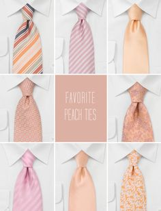 I absolutely LOVE these peach ties for the groomsmen!!