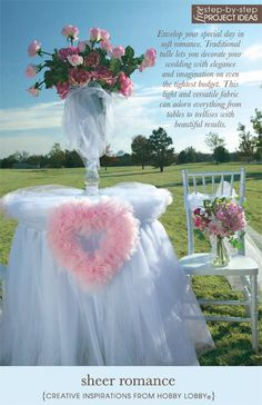Traditional tulle lets you decorate your wedding with elegance and creativity and stay within your budget.