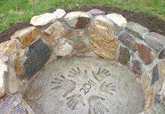 homemade (& personalized) fire pit