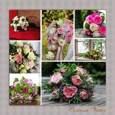 Brautstrauss pink rose weiß | Bridal bouquet