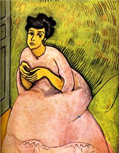 The Woman in Pink - Raoul Dufy - WikiPaintings.org