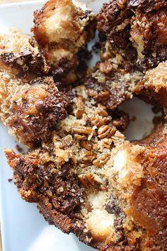 German Chocolate Monkey Bread | Justin LOVES german chocolate