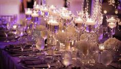 table settings, wedding receptions, floating candles, spring weddings, candle holders, candle centerpieces, head tables, wedding centerpieces, budget decorating