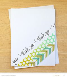 thank you card by Agnieszka