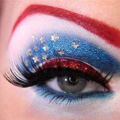 4th of july makeup:)