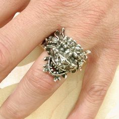 Mystical Dragon Ring  Oxidized Sterling by SwankMetalsmithing, $295.00