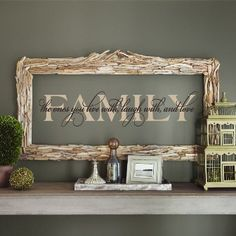 Love this idea of putting on the wall, then adding a frame around it in the color of the lettering......