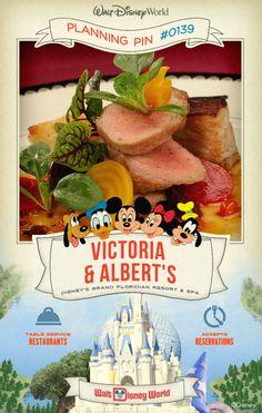 Walt Disney World Planning Pins: Victoria & Albert's
