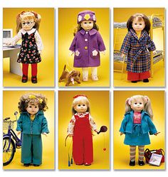 """mccall's 2506... clothes for 18"""" doll (such as american girl)"""