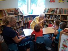 Storytelling at the Library: Tripp-Delmont school and public library Combo