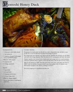 """""""Serve with some flatbread, honeyed wine, and a table set with the strangest fruits you can find, and you're golden."""" MORE RECIPES: http://itsh.bo/LQC1sC #gameofthrones #duck #food"""
