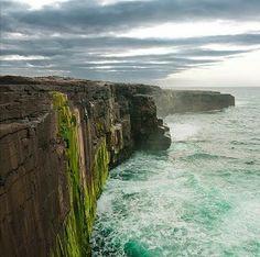 Ireland. So beautiful. adventur, moher, ireland, cliff, visit, beauti, irish, travel, place