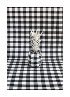 a pineapple + gingham = awesome