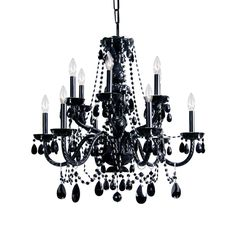 Crystal Chandelier Black... For our dining room (: