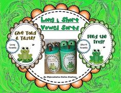 FREE!! Frog and Toad: Sort Long and Short Vowel Words...from Differentiation Station Creations on Teachers Pay Teachers