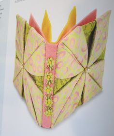 tutorial for origami fabric flower