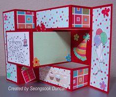 seongsook 39 s creations happy birthday trifold shutter card check