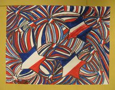 American Flag Abstraction - Patriotic Art Project.... Mom...what do you think about me having my art kids do these to send to those soldiers with a letter?