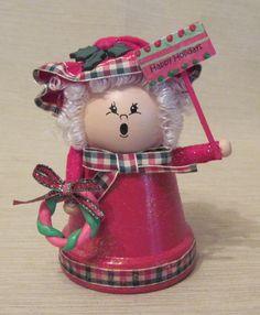 Terra Cotta Pot Mrs Claus