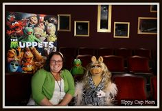 I met Kermit and Miss Piggy!