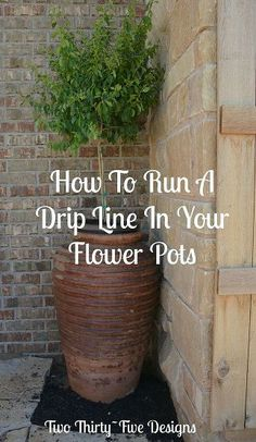 How To Install A Drip Line To Your Flower Pots