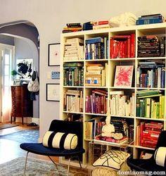 Domino magazine, bookcase