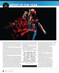 Bruno Mars, Billboard Magazine