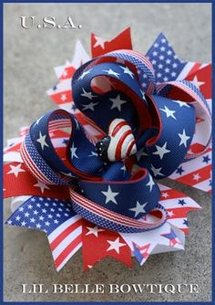 July 4 hairbow
