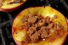 Honey Almond Grilled Peaches #Recipe