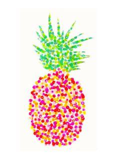 Pineapple Watercolor Print Pineapple Art by FindingSmiles