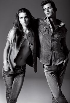 Bambi & Sean rocking the new Armani Jeans campaign for Fall/Winter 2012.