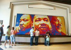 Dream Big was a year-long project in which Pete created a mosaic of Dr. Martin Luther King Jr. using 4,242 Rubik Cubes.""
