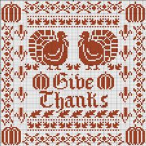 Give Thanks Sampler - DMC freebie