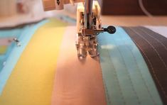 Straight line quilting, nice tutorial.