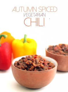 Autumn Spiced Vegetarian Chili