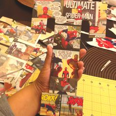 Comic Book Strips cut out to cover Wood Letters for Tony's Super Hero Room, total cost per letter $8