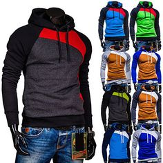Multi Color Contrast Mens Slim Fit Pullover Hoodie | Sneak Outfitters