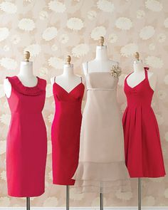 bridesmaid dresses to go with fuchsia and taupe color scheme
