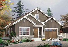 Dessins Drummond no 3227. #Chalet #Rustic #Country #Design #House #Bungalow #Cottage #Craftsman #Northwest #BabyBoom