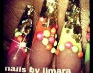 Stiletto nails by Limara Herdman #nails #glitter #longnails