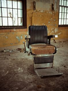 Abandoned children's hospital (or asylum/psychiatric hospital for children), Forest Haven ~ Weylyn @ flickr   ~ what a great chair!
