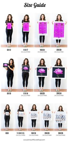 print size guide, photographi print