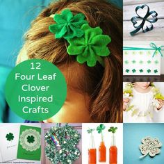 12 four leaf clover inspired crafts via @babbleeditors