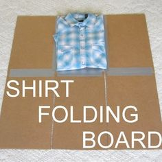DIY Shirt Folding Board from Cardboard and Duct Tape.